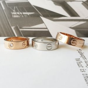 Love Ring screw ring Silver Rose gold 6 7 8 9 10